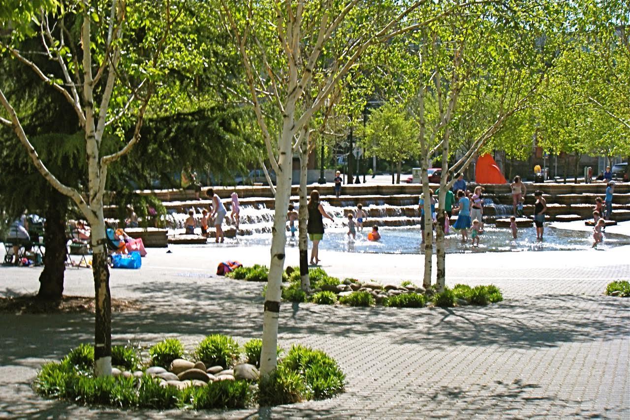 Urban park scene